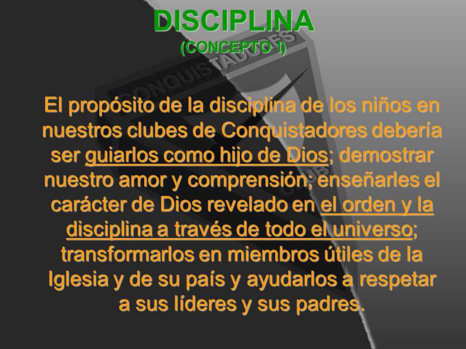 DISCIPLINA (CONCEPTO I)