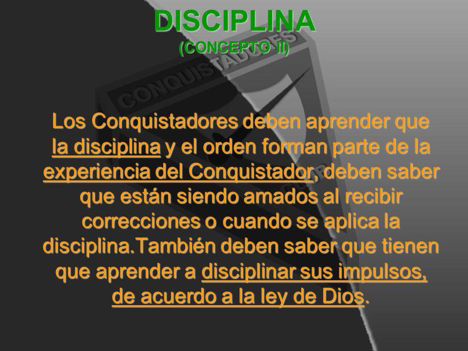 DISCIPLINA (CONCEPTO II)