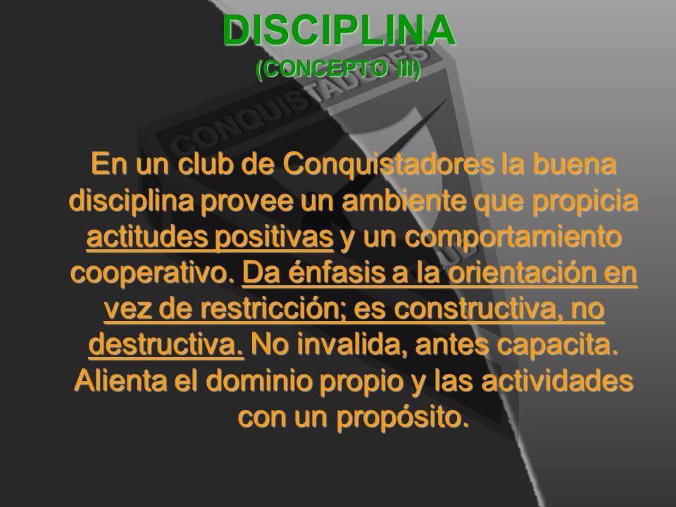 DISCIPLINA (CONCEPTO III)
