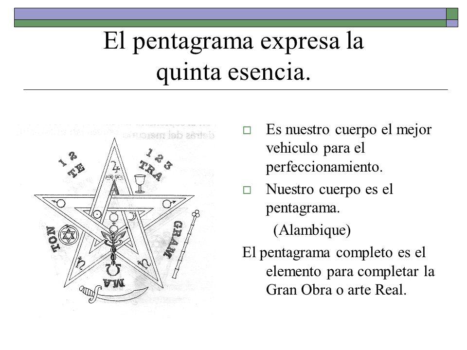 El pentagrama expresa la quinta esencia.