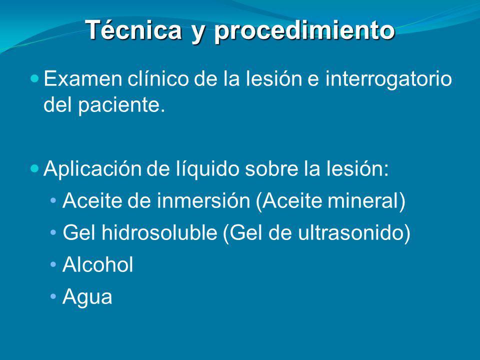 Técnica y procedimiento