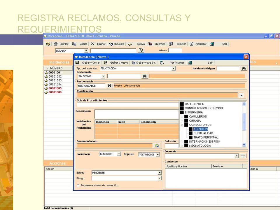 REGISTRA RECLAMOS, CONSULTAS Y REQUERIMIENTOS