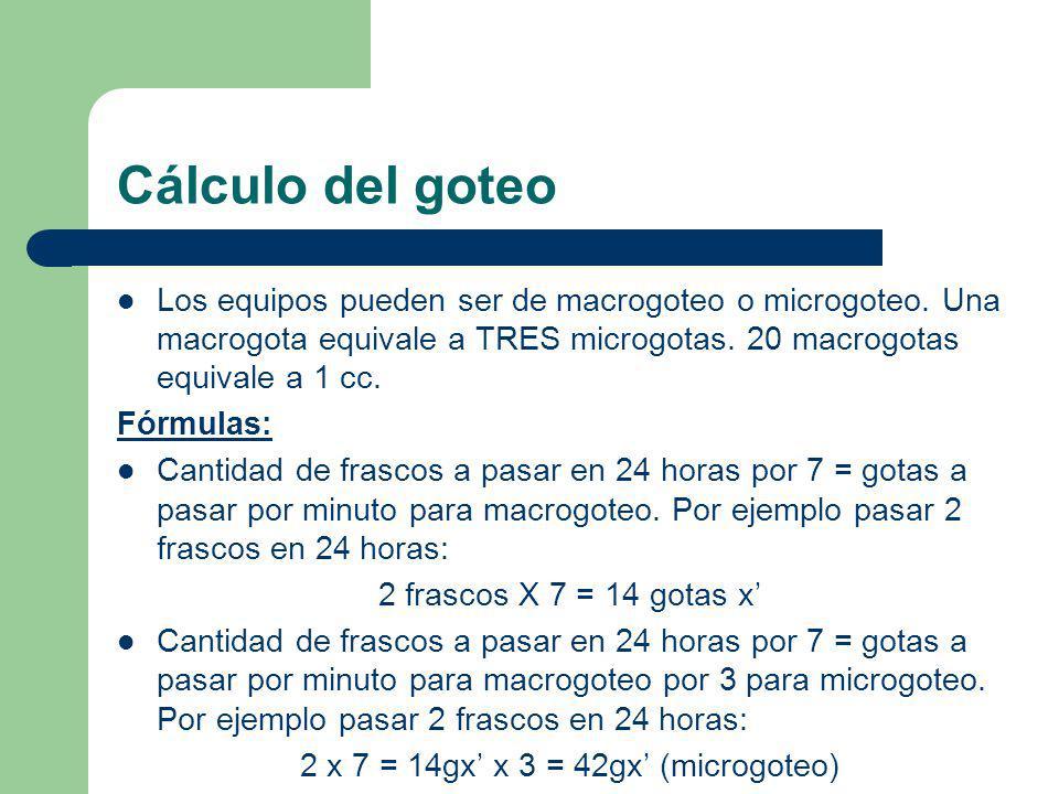 2 x 7 = 14gx' x 3 = 42gx' (microgoteo)