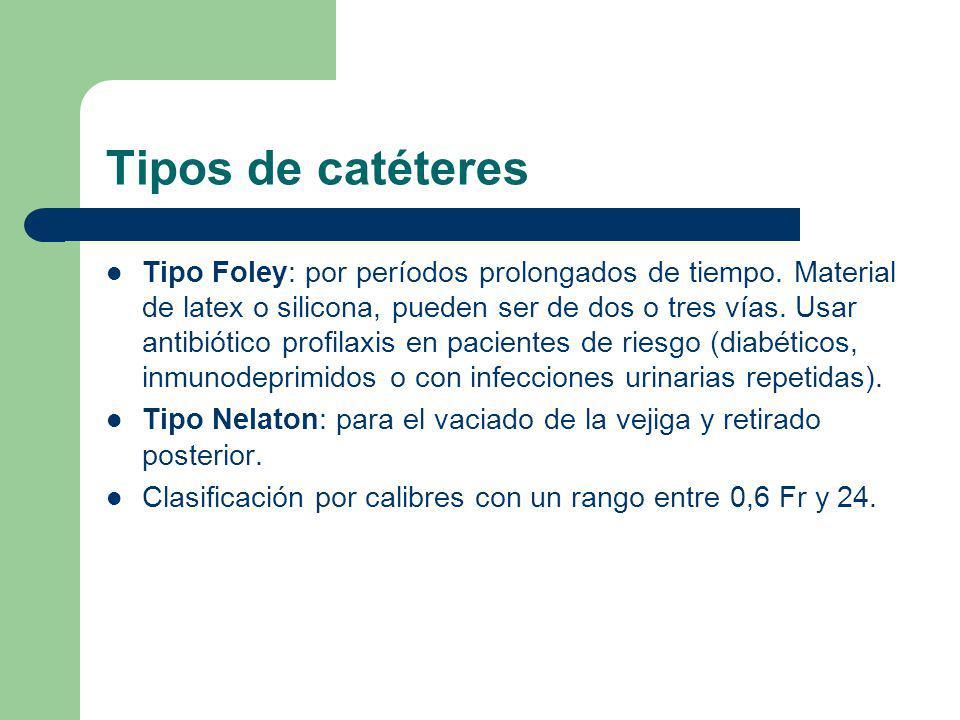 Tipos de catéteres