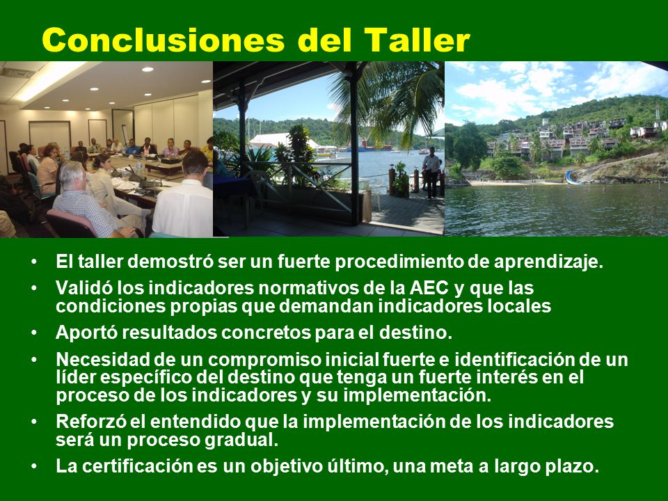 Conclusiones del Taller