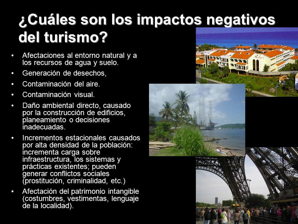 ¿Cuáles son los impactos negativos del turismo