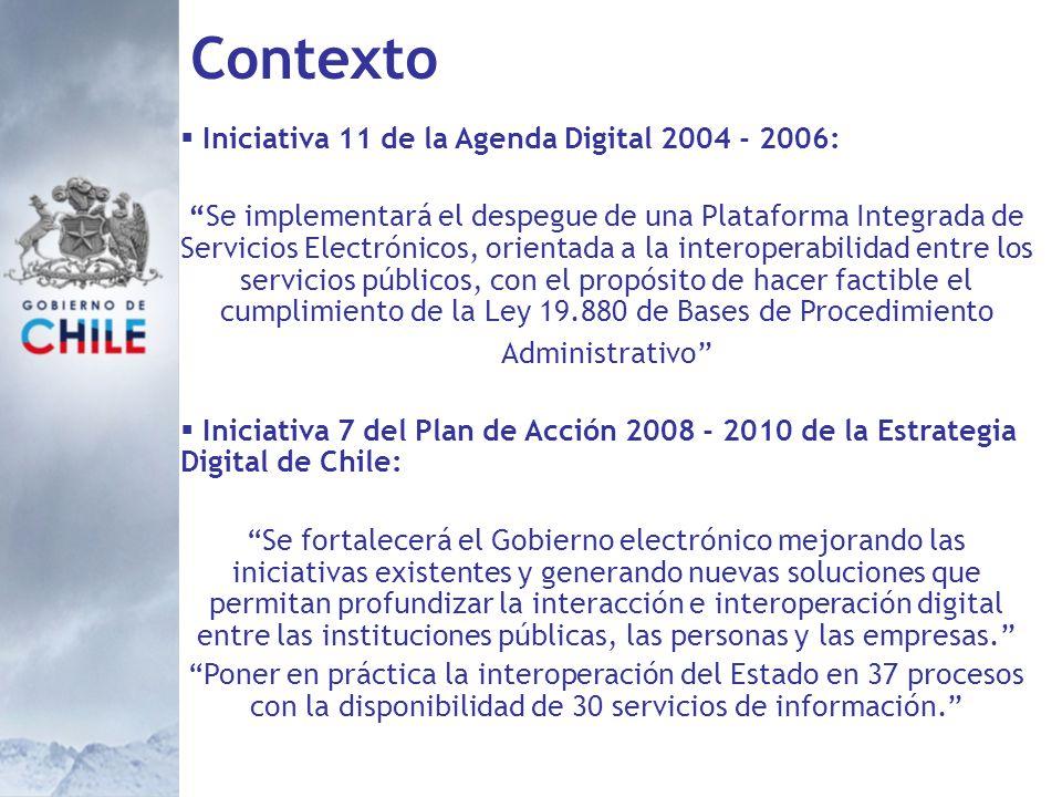 Contexto Iniciativa 11 de la Agenda Digital 2004 - 2006: