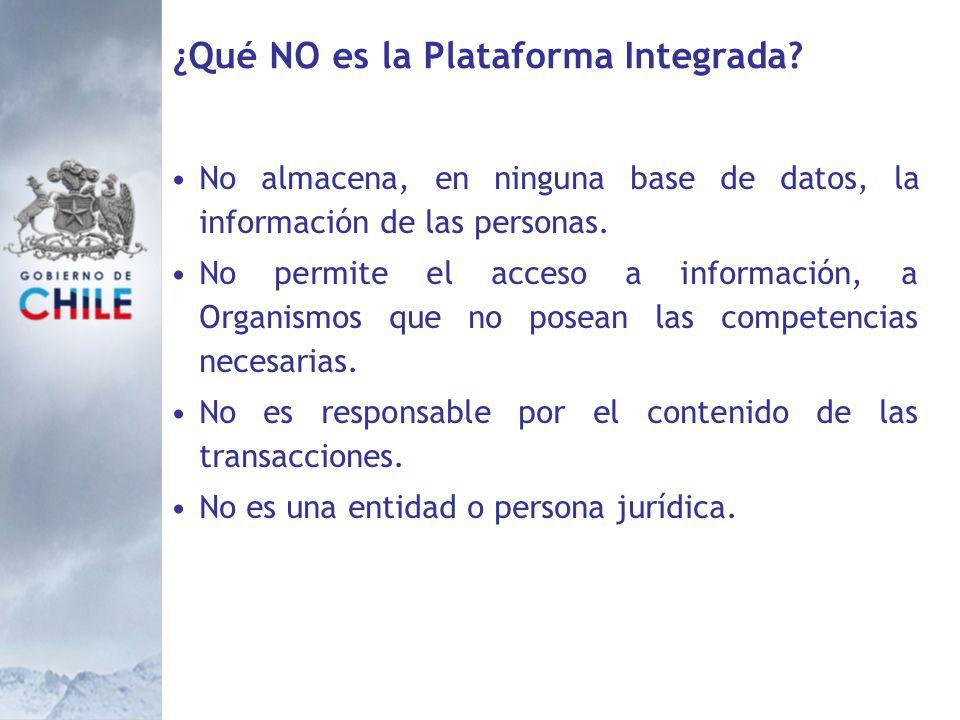 ¿Qué NO es la Plataforma Integrada