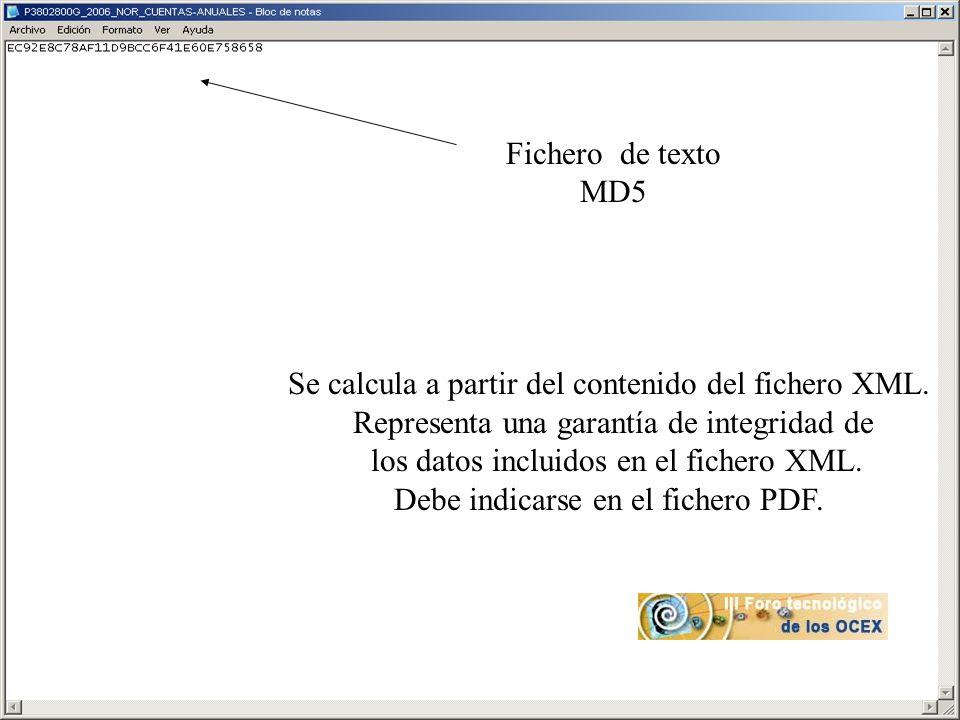 Se calcula a partir del contenido del fichero XML.