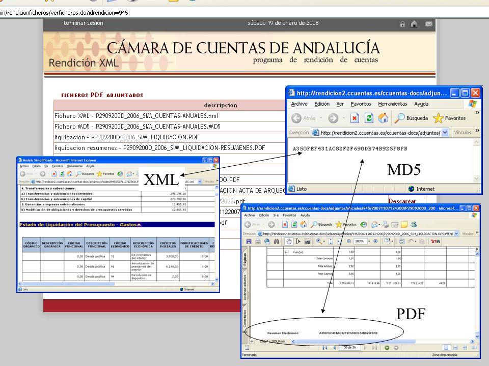 MD5 XML PDF