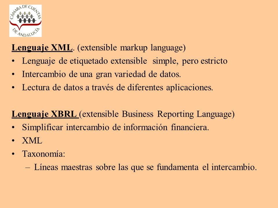 Lenguaje XML. (extensible markup language)