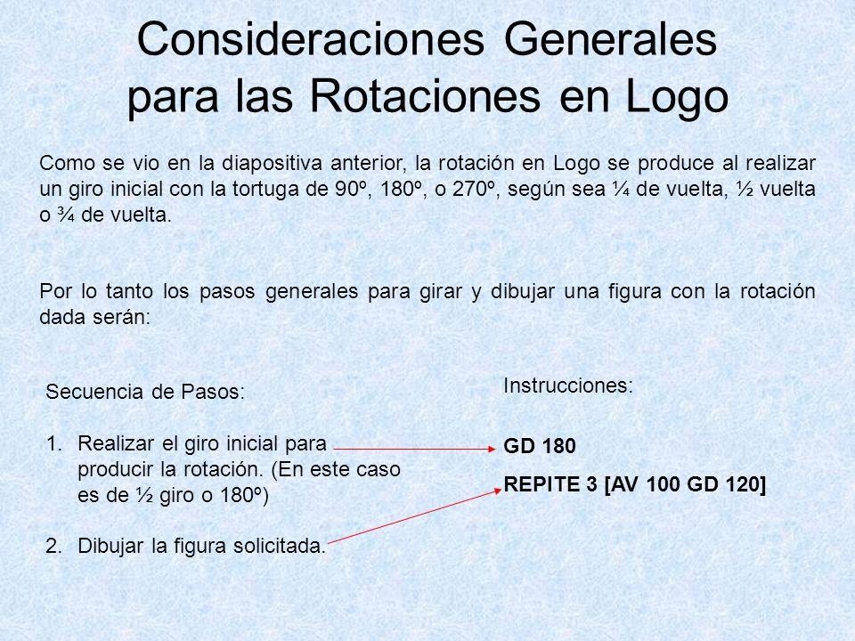 Consideraciones Generales para las Rotaciones en Logo