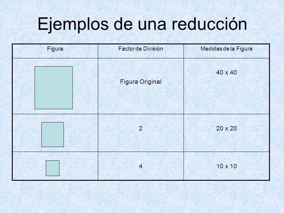 Ejemplos de una reducción