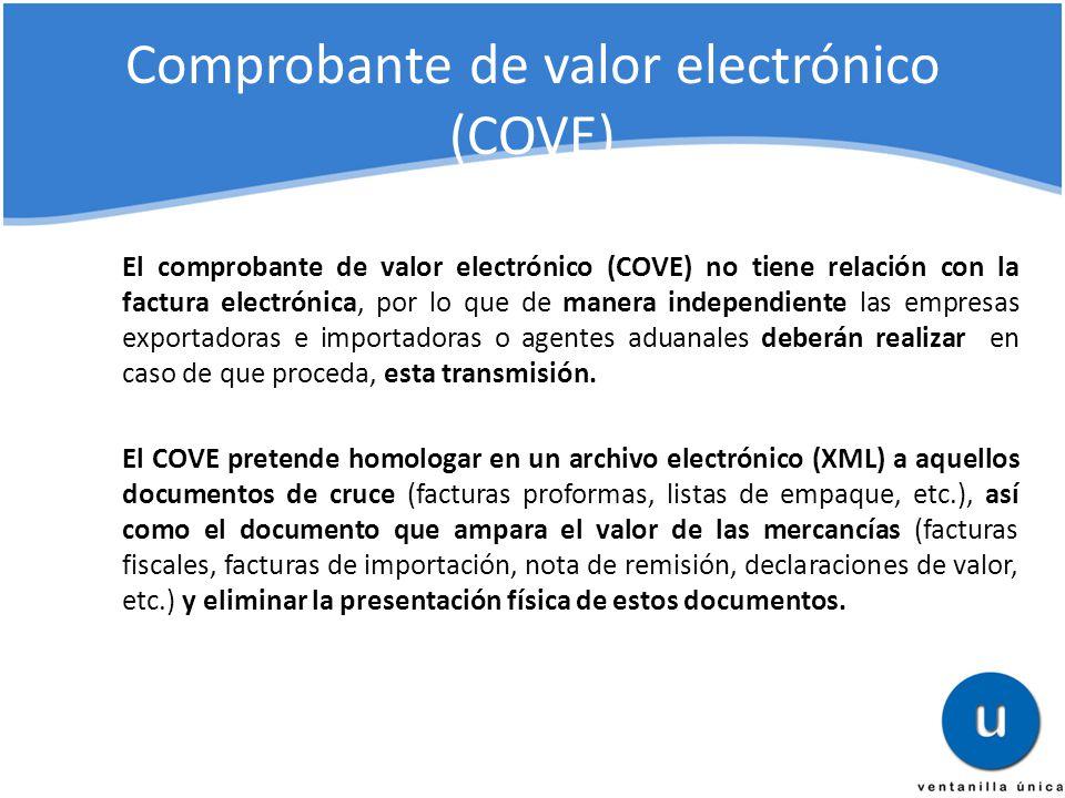 Comprobante de valor electrónico (COVE)