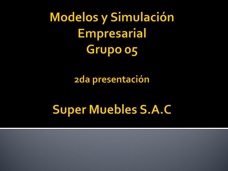 Modelos y Simulación Empresarial Grupo 05 2da presentación Super Muebles S.A.C