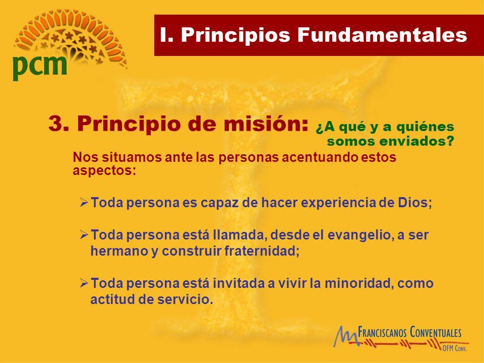 3. Principio de misión: ¿A qué y a quiénes somos enviados
