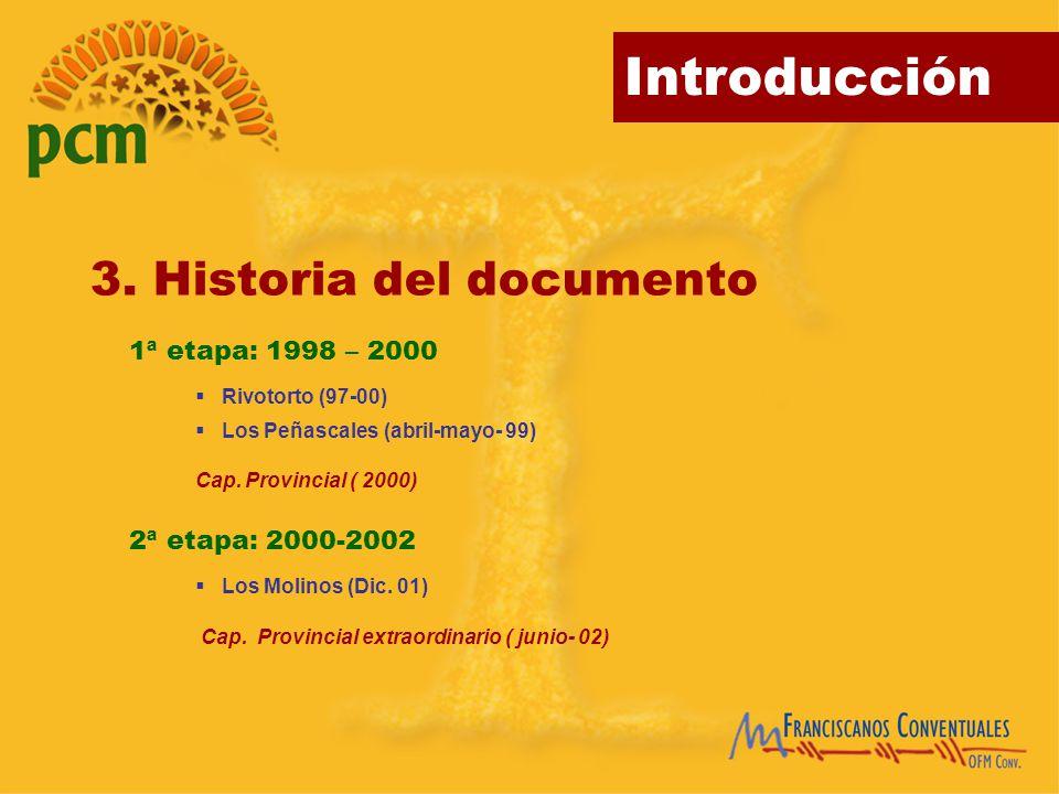 3. Historia del documento