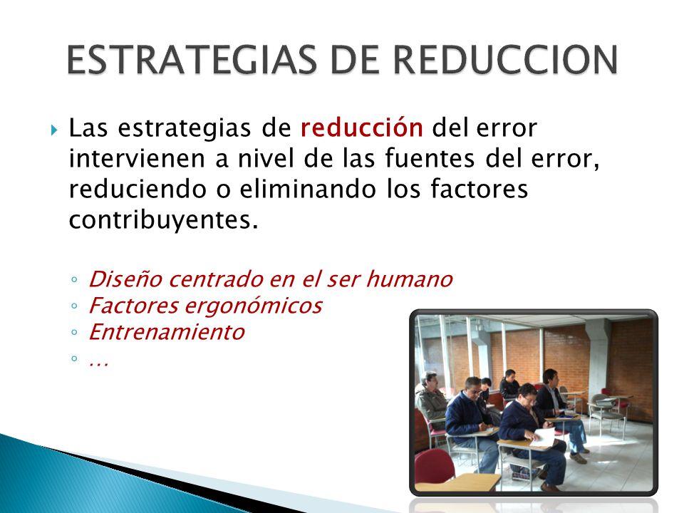 ESTRATEGIAS DE REDUCCION