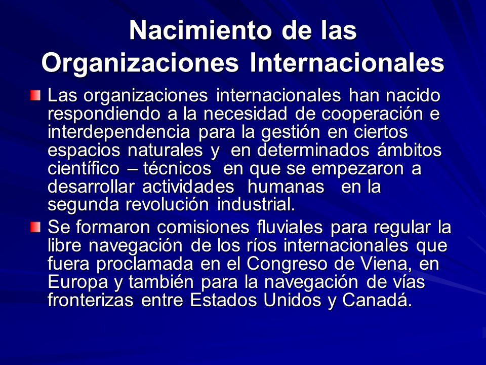 Nacimiento de las Organizaciones Internacionales