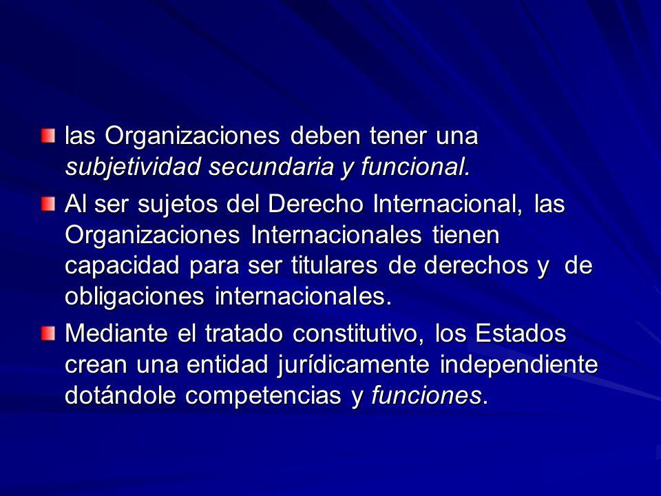 las Organizaciones deben tener una subjetividad secundaria y funcional.