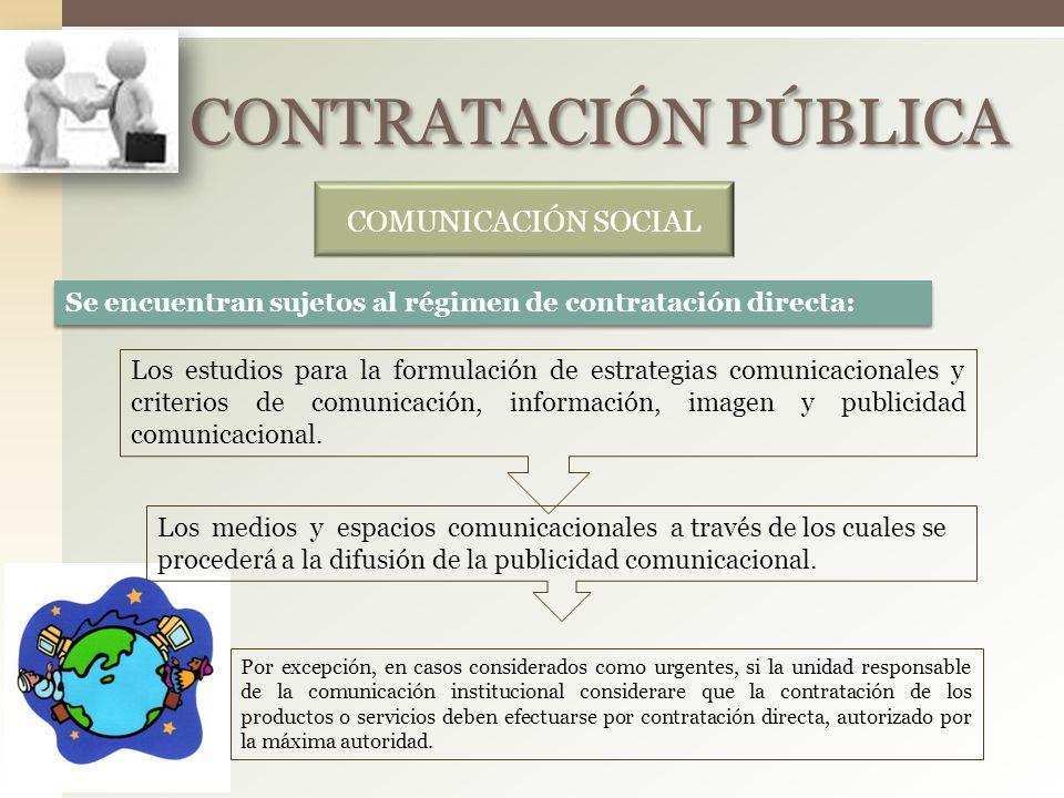 CONTRATACIÓN PÚBLICA COMUNICACIÓN SOCIAL