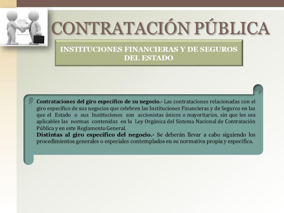 INSTITUCIONES FINANCIERAS Y DE SEGUROS DEL ESTADO