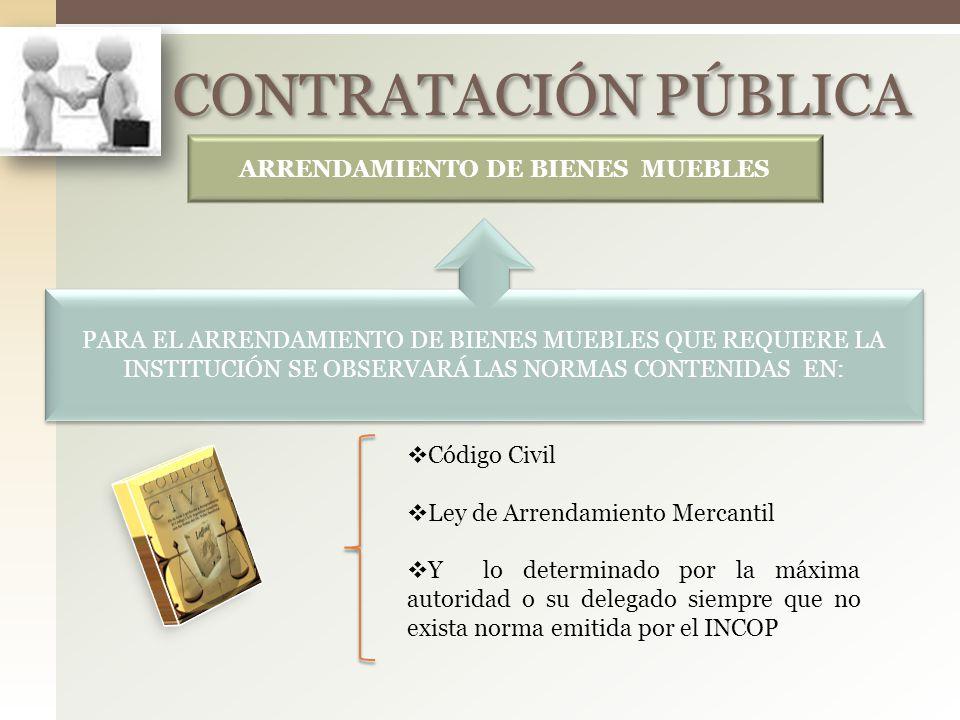 Contratacion publica ppt descargar for Arrendamiento bienes muebles