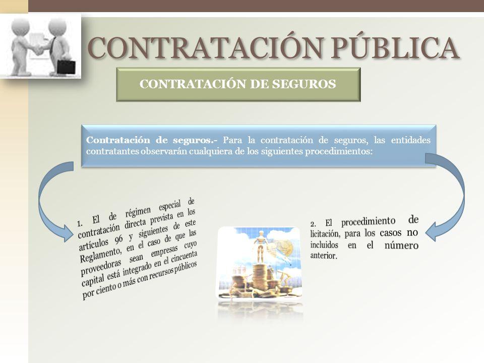CONTRATACIÓN DE SEGUROS