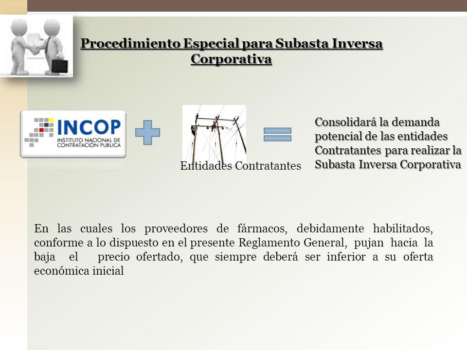 Procedimiento Especial para Subasta Inversa Corporativa
