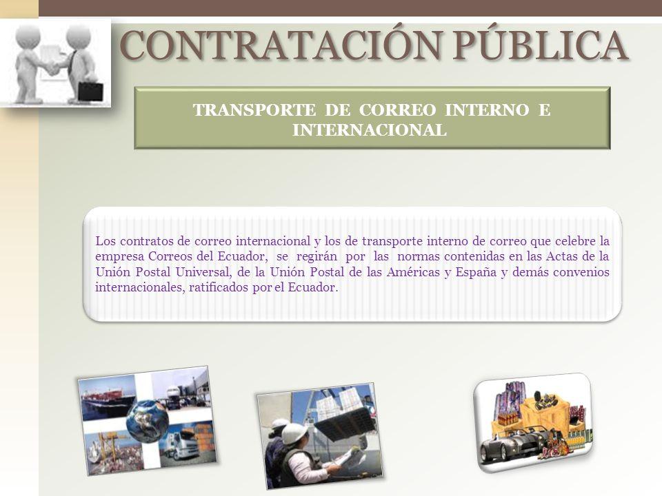TRANSPORTE DE CORREO INTERNO E INTERNACIONAL