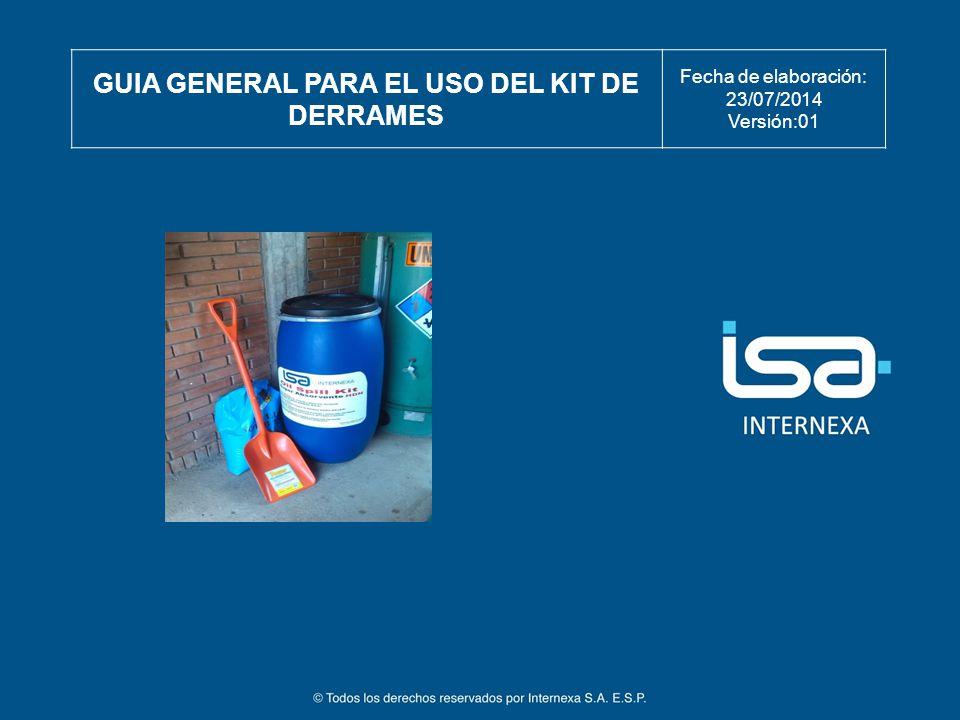 GUIA GENERAL PARA EL USO DEL KIT DE DERRAMES