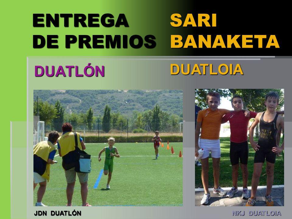 ENTREGA DE PREMIOS SARI BANAKETA DUATLÓN DUATLOIA JDN DUATLÓN