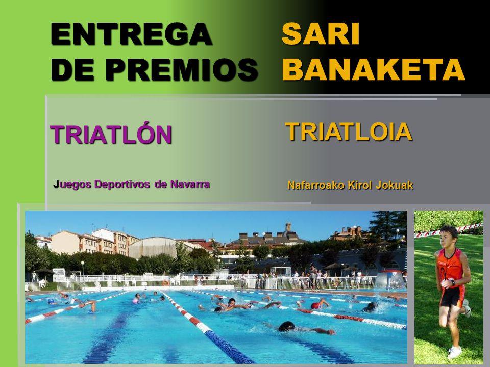 ENTREGA DE PREMIOS SARI BANAKETA TRIATLÓN TRIATLOIA