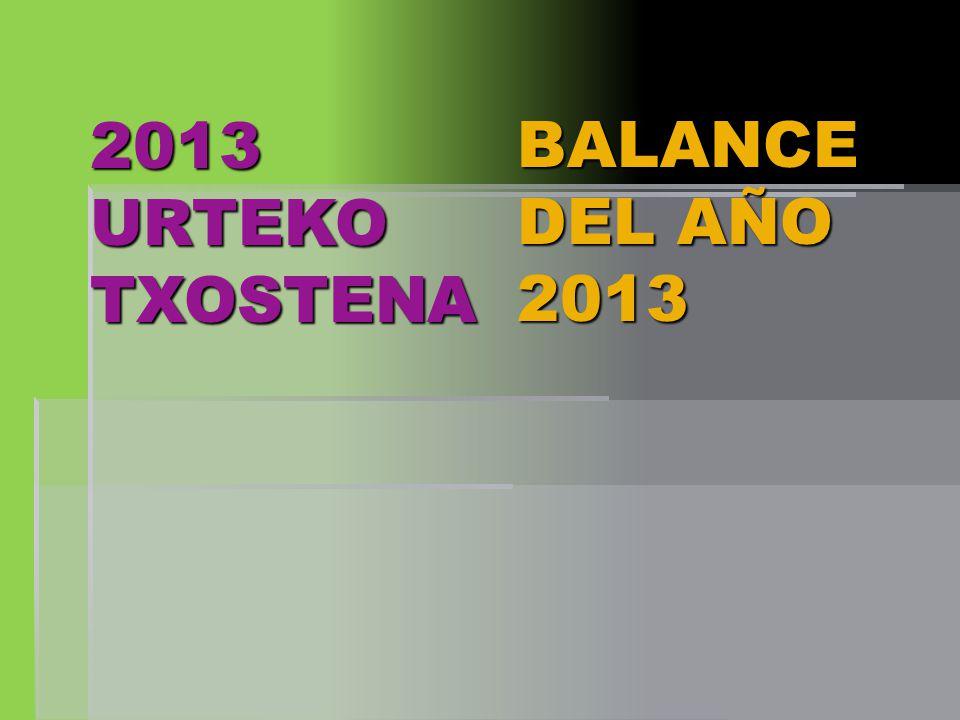 2013 URTEKO TXOSTENA BALANCE DEL AÑO 2013