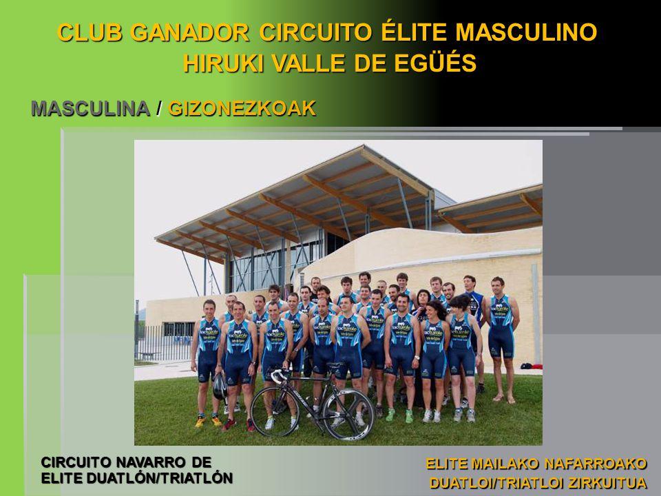CLUB GANADOR CIRCUITO ÉLITE MASCULINO