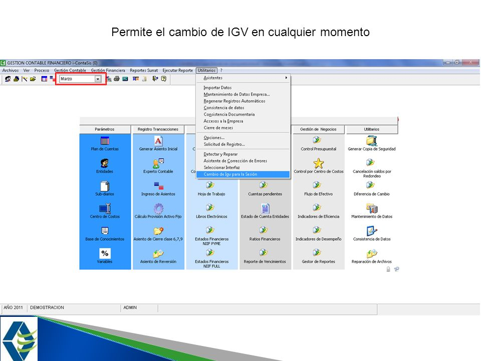 Permite el cambio de IGV en cualquier momento