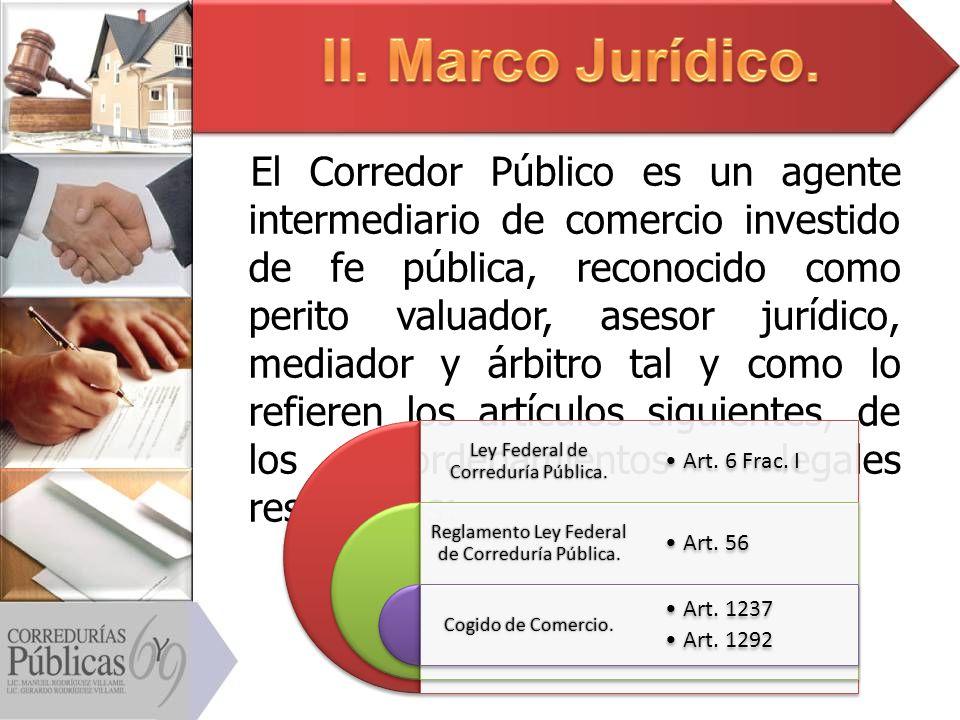 II. Marco Jurídico.
