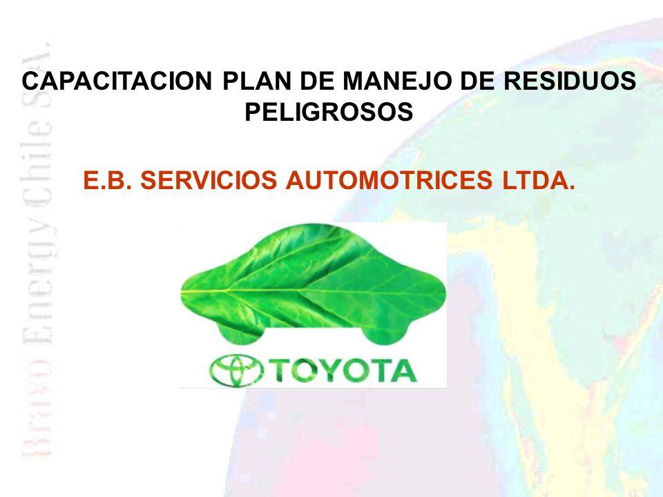 CAPACITACION PLAN DE MANEJO DE RESIDUOS PELIGROSOS