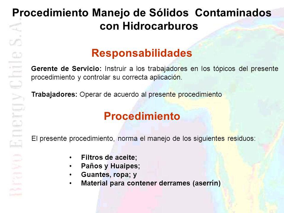 Procedimiento Manejo de Sólidos Contaminados con Hidrocarburos