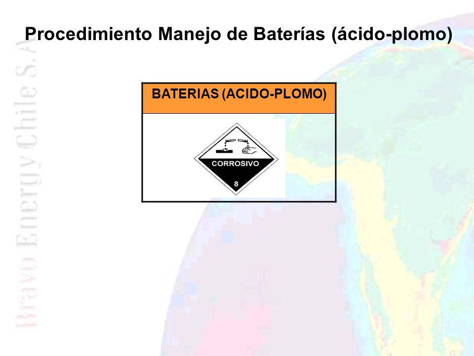 Procedimiento Manejo de Baterías (ácido-plomo) BATERIAS (ACIDO-PLOMO)