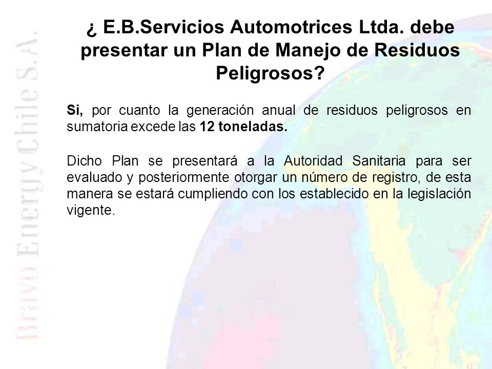 ¿ E. B. Servicios Automotrices Ltda