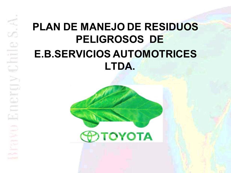 PLAN DE MANEJO DE RESIDUOS PELIGROSOS DE