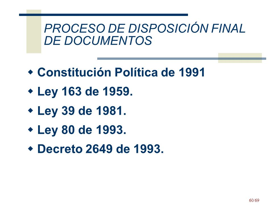 PROCESO DE DISPOSICIÓN FINAL DE DOCUMENTOS