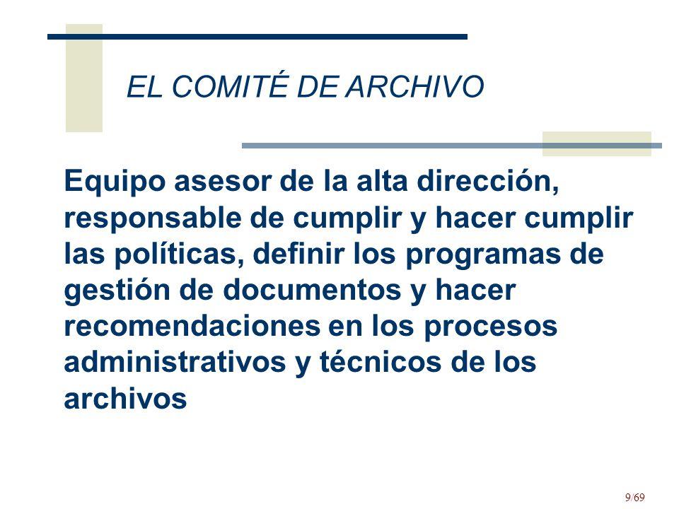 EL COMITÉ DE ARCHIVO