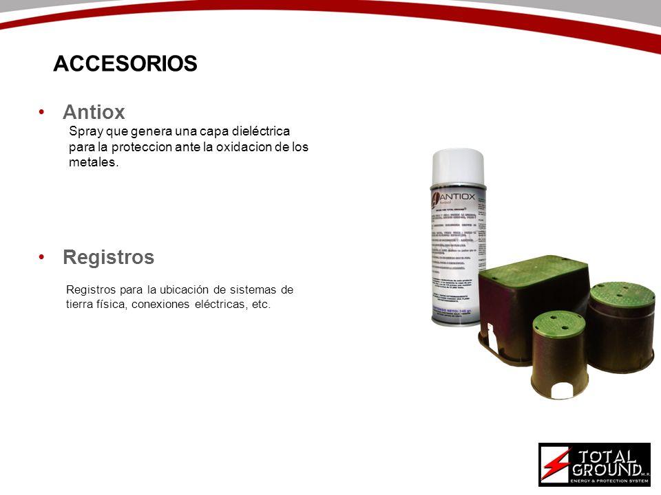 ACCESORIOS Antiox Registros