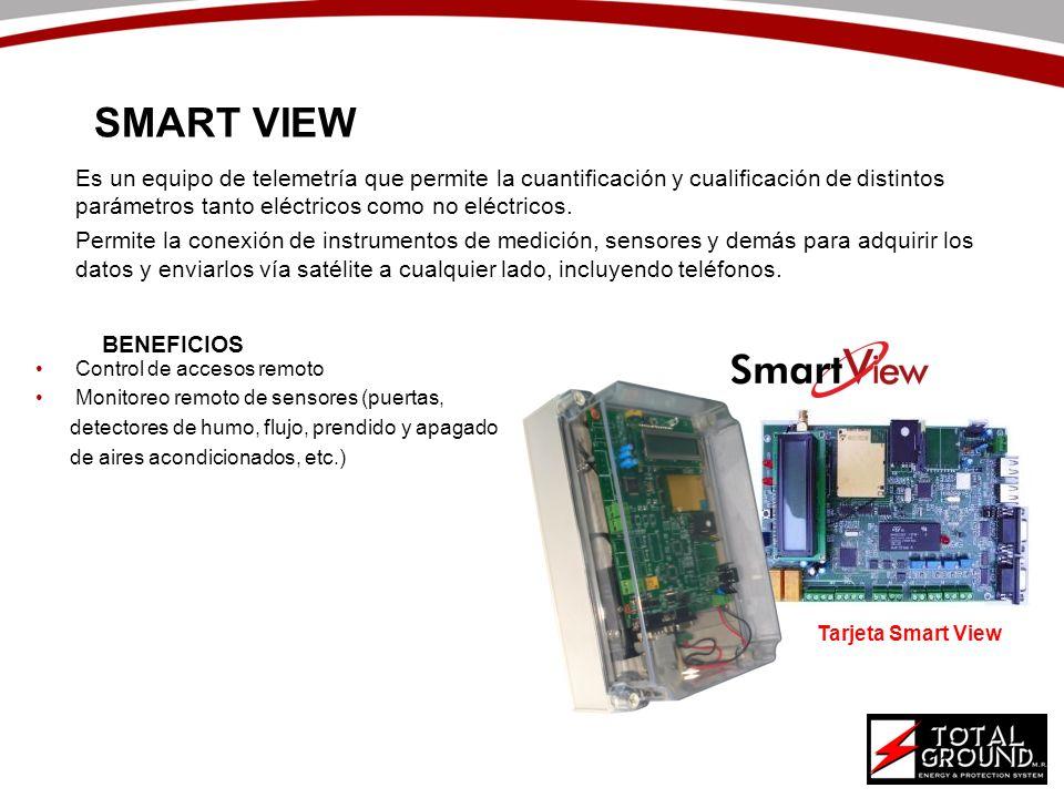 SMART VIEWEs un equipo de telemetría que permite la cuantificación y cualificación de distintos parámetros tanto eléctricos como no eléctricos.