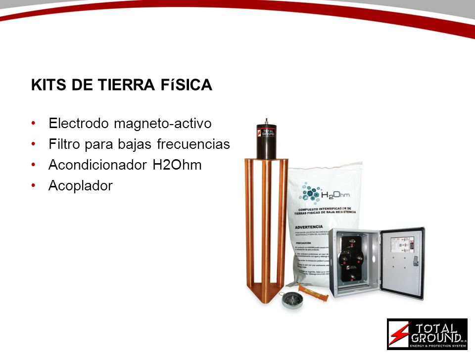 KITS DE TIERRA FíSICA Electrodo magneto-activo