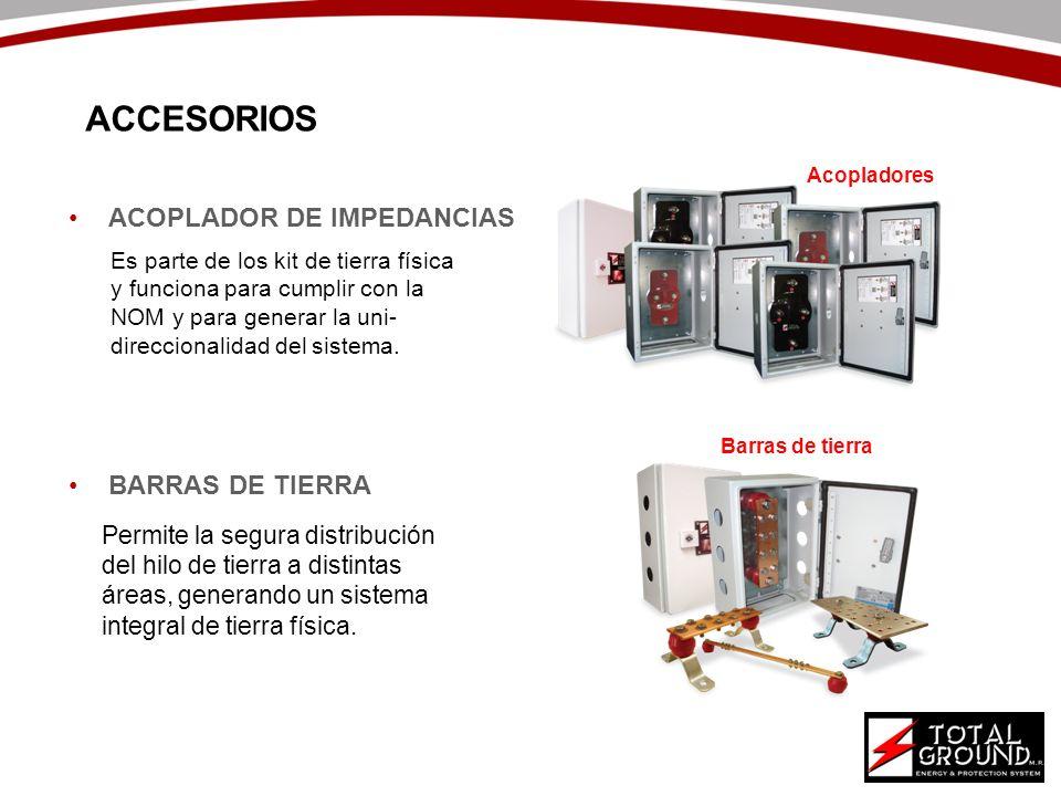 ACCESORIOS ACOPLADOR DE IMPEDANCIAS BARRAS DE TIERRA