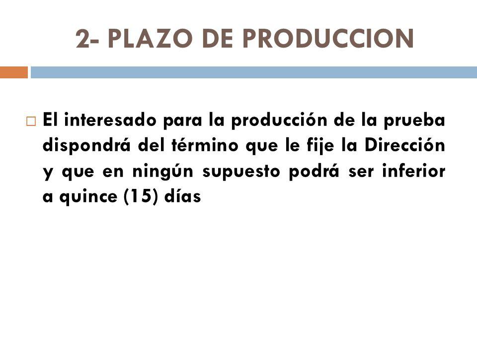 2- PLAZO DE PRODUCCION