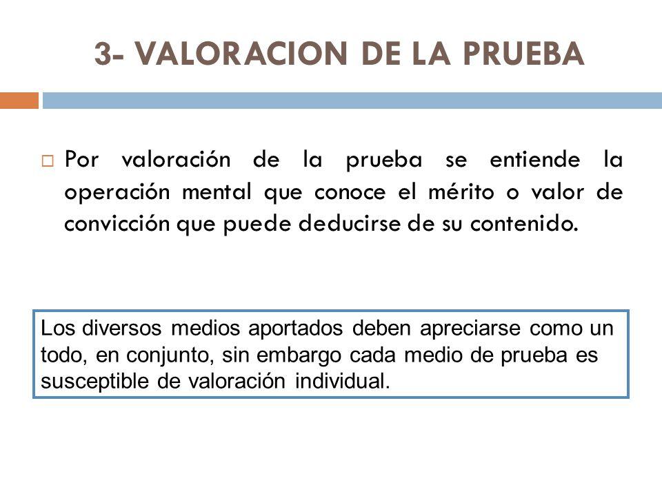3- VALORACION DE LA PRUEBA